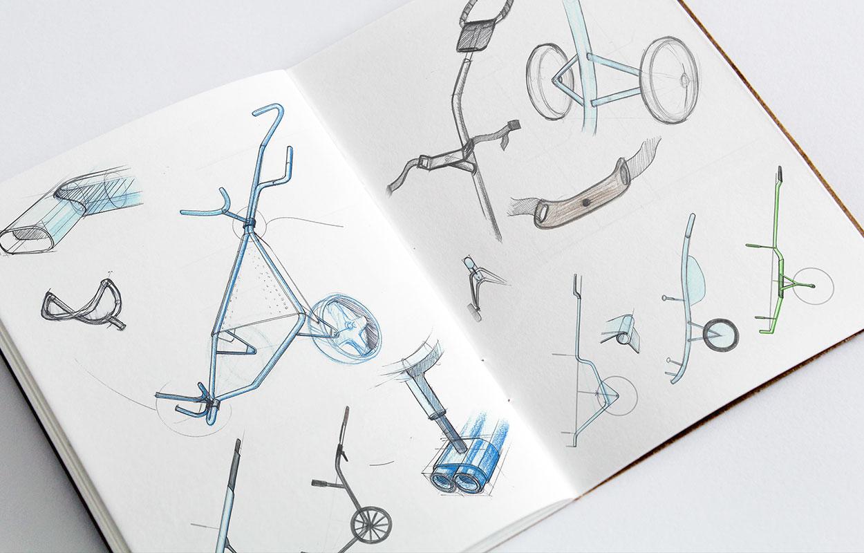chariot de golf croquis- ova design