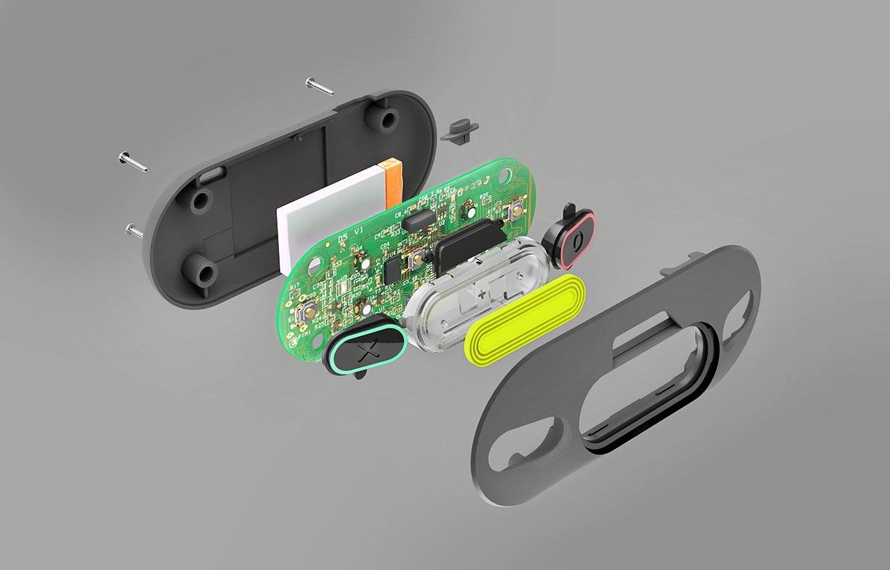 Capteur de foot en salle connecte par Ova Design - Data Five